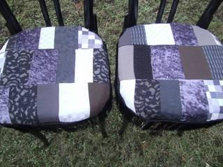 Stuhlkissen,grau,braun,schwarz,Patchwork:   von schneiderei jerke