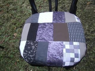 Stuhlkissen,grau,braun,schwarz:   von schneiderei jerke