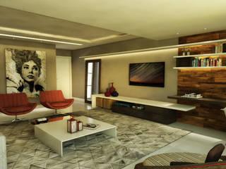 Arquitetura do Brasil 现代客厅設計點子、靈感 & 圖片