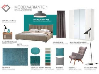 Möbelplanung Schlafzimmer: moderne Schlafzimmer von furnitects GmbH