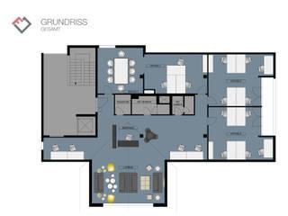 Grundriss Office:  Bürogebäude von furnitects GmbH