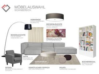 Möbel für den offenen Wohnbereich: moderne Wohnzimmer von furnitects GmbH