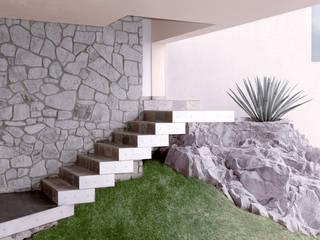 Casa M: Pasillos y recibidores de estilo  por alexandro velázquez