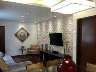 Painel na Sala do Apartamento Salas de estar ecléticas por All In Gerenciamento de Projetos e Obras Eclético