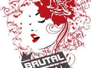 BrutalVisual ArtObjets d'art Rouge