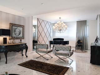 Apartamento Lourdes - Caxias do Sul: Salas de estar  por Fabris Franco Arquitetura,Clássico
