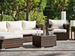 Hevea Garden Furniture Bahan Sintetis Brown