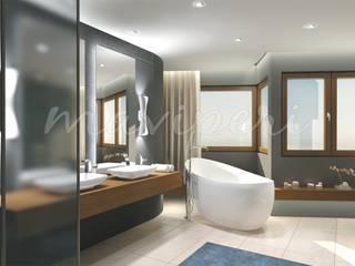Baños de estilo moderno de Maviperi Mimarlık Moderno