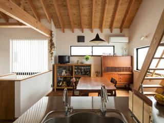 藤森大作建築設計事務所 Sala da pranzo moderna Bianco