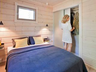 scandinavian Bedroom by Woody-Holzhaus - Kontio