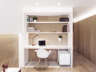 minimalistische Studeerkamer/kantoor door onside