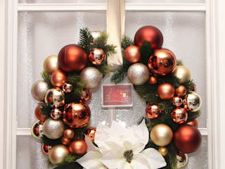 Klassischer Weihnachtstürkranz mit Weihnachssternen und 1 g Goldbarren:   von GP METALLUM