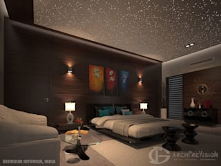Bedroom Interior, India: eclectic  by 3DArchPreVision,Eclectic
