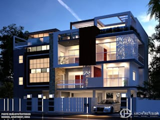 Apartment Exterior Renders Modern houses by 3DArchPreVision Modern