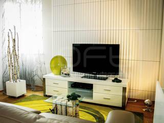 3D Decorative Panel - Loft System Design - model Ruffles Loft Design System Walls & flooringWall tattoos