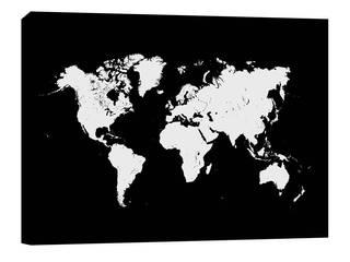 КАРТА МИРА (ХОЛСТ):  в . Автор – Urbanmap