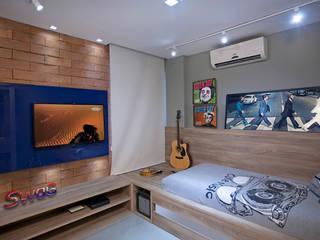 غرفة نوم تنفيذ Escritório Ana Meirelles