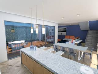 Conjunto Habitacional Comedores modernos de F+RA servicios Moderno