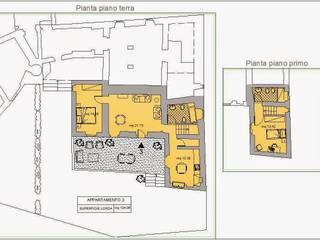 Progetto di restauro e risanamento conservativo di Villa Case in stile rustico di Architetto Serena Lugaresi Rustico