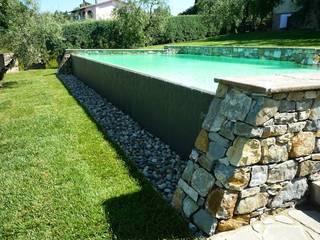 Intervento di ristrutturazione ed arredamento villetta e progetto e direzione lavori di una piscina Piscina in stile in stile classico di Architetto Serena Lugaresi Classico