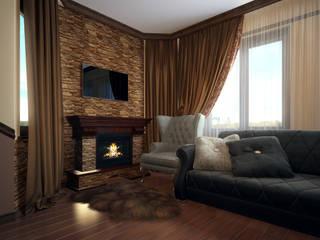 """Визуализации проекта """"Загородный дом"""" Гостиная в классическом стиле от Alyona Musina Классический"""