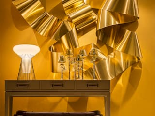 Jorge Cassio Dantas Lda Modern Corridor, Hallway and Staircase Copper/Bronze/Brass