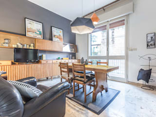 La casa delle opportunità Sala da pranzo eclettica di Bologna Home Staging Eclettico