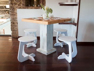 TABUHOME KitchenTables & chairs Synthetic White