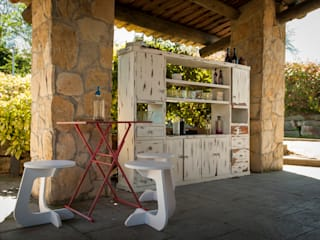TABUHOME Garden Furniture Synthetic White