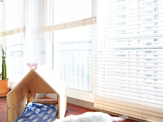 Urban Morden House: housetherapy의  베란다,모던