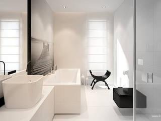 Scandinavian style bathroom by Klaudia Tworo Projektowanie Wnętrz Sp. z o.o. Scandinavian