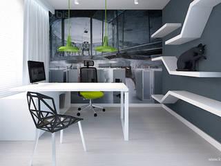 Modern Study Room and Home Office by Klaudia Tworo Projektowanie Wnętrz Sp. z o.o. Modern