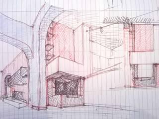 Camino prefabbricato rivestito di Arch. Gianpiero Conserva Moderno