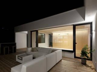 Balcones y terrazas de estilo moderno de PASCHINGER ARCHITEKTEN ZT KG Moderno