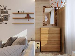Визуализация проекта спальни г.Пермь Спальня в эклектичном стиле от Alyona Musina Эклектичный