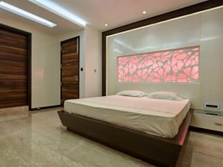 Apartment at Tirupur:  Bedroom by Cubism