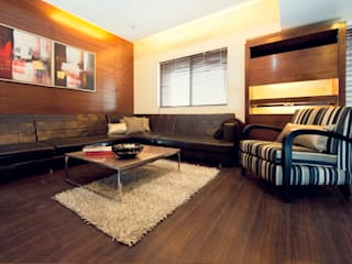 Show Apartment Modern media room by Studio A Modern
