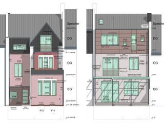 Sanierung eines 100-jährigen bergischen Jugendstil-Hauses Moderne Häuser von Noesser Padberg Architekten GmbH Modern