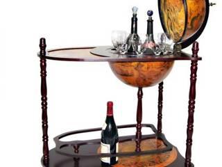 Globus-Bar aus Massivholz von Lesara Rustikal