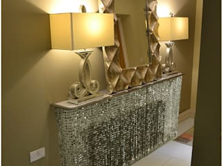 Glitzy glamour with crystal console tables in small hallway: modern  by Lace Furniture, Modern