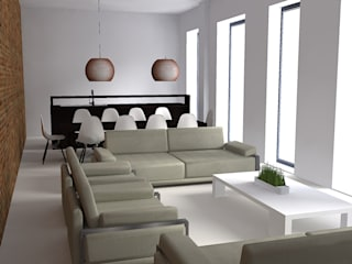 Salas de estilo minimalista de Filippo Fiori Architetto Minimalista