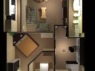 Pasillos, vestíbulos y escaleras de estilo moderno de Filippo Fiori Architetto Moderno