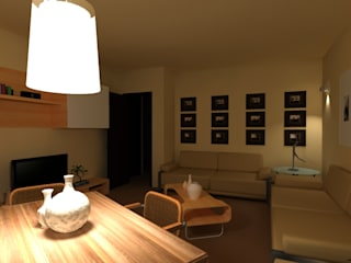 Salas de estilo moderno de Filippo Fiori Architetto Moderno