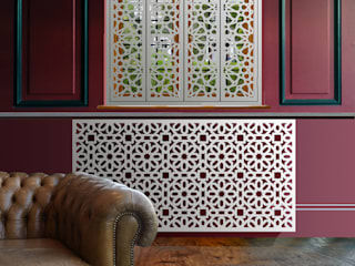 laser cut modern radiator covers in moroccan and arabic room makeovers by Laser cut Furniture & Screens