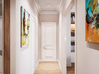3-bedroom Apartment, Moscow Pasillos, vestíbulos y escaleras de estilo clásico de Alexander Krivov Clásico