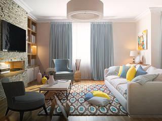 3-bedroom Apartment, Moscow Salones de estilo clásico de Alexander Krivov Clásico