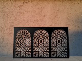 Laser cut screens and panels in Moroccan minaret design: colonial  by Laser cut Furniture & Screens, Colonial