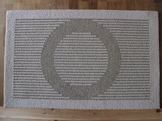麻だんつう 穂波みのり ベージュ 玄関マット: 穂積繊維が手掛けたです。,