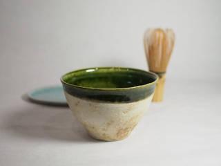 サイズにコダワッタ卓上用の抹茶茶碗「Modern series ORIBE 小服茶碗」: 愚陶庵が手掛けた現代のです。,モダン
