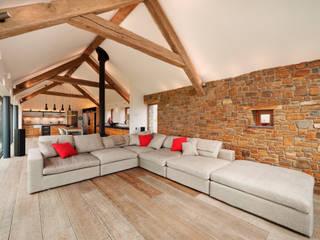 Down Barton, Devon Moderne Wohnzimmer von Trewin Design Architects Modern